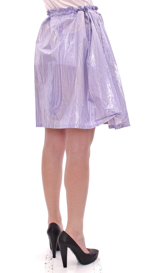 Purple Adjustable Waist Strap A-Line One Size Skirt