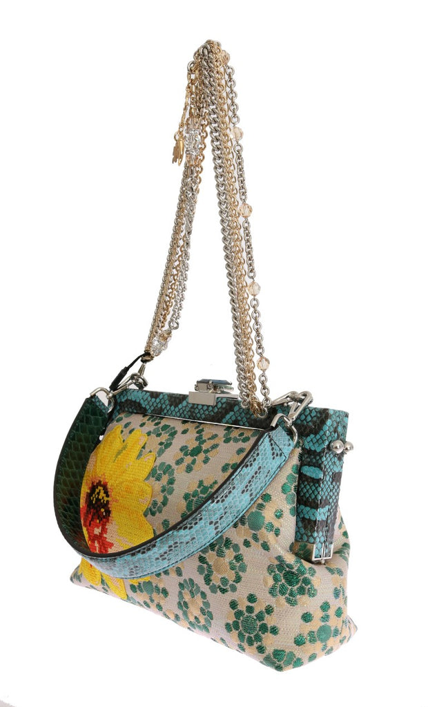 Multicolor VANDA Floral Embroidered Crystal Bag