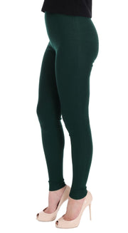 Green Cashmere Stretch Tights