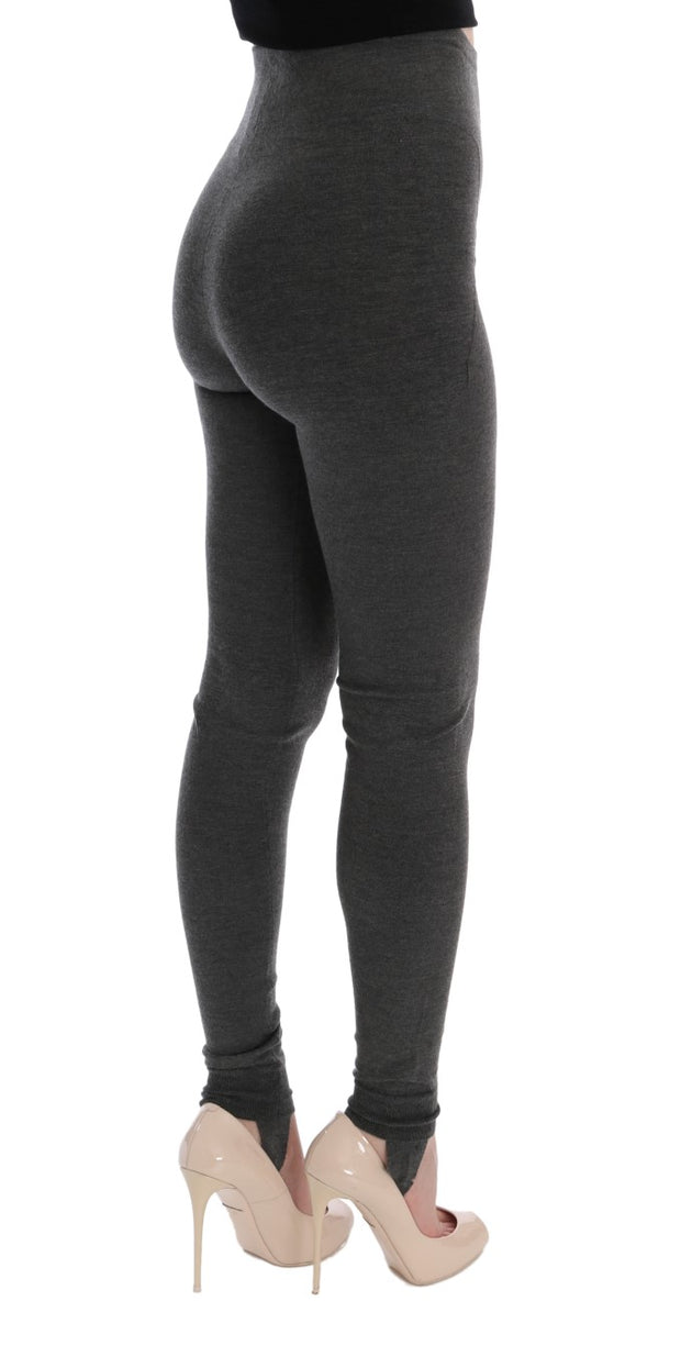 Gray Cashmere Stretch Tights