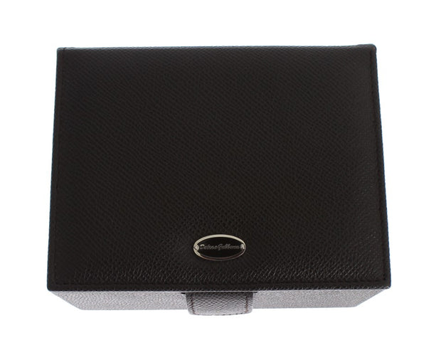 Brown Leather Unisex Two Watch Case Cover Box Storage