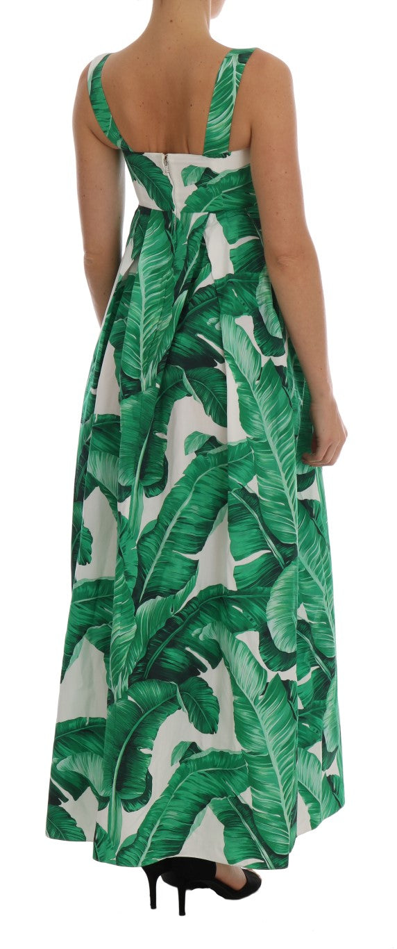 Banana Leaf Cotton Long Maxi Dress