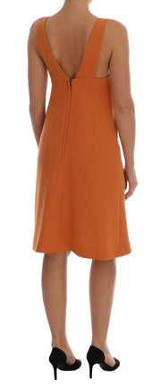 Orange Appliqué Sheath Dress