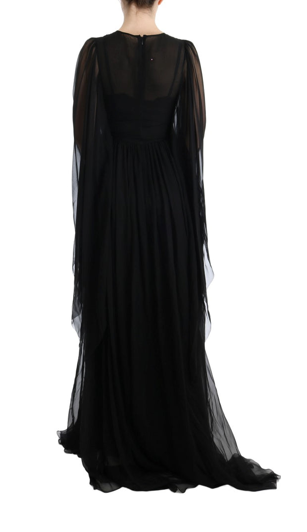 Black Silk ITALIA IS LOVE Sequined Dress