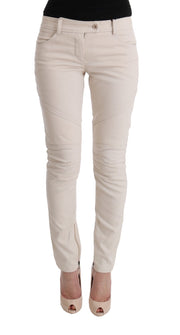 White Slim Fit Casual Jeans