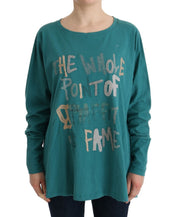 Green Cotton Oversized Sweater