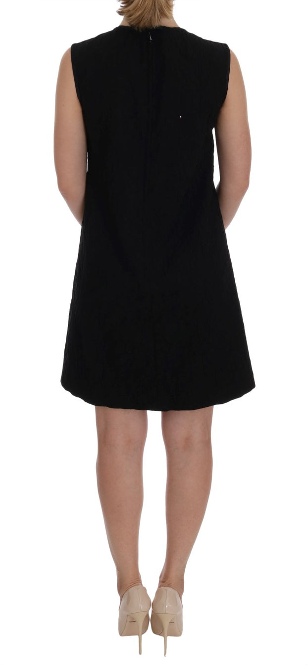 Black San Valentino Crystal Shift Dress