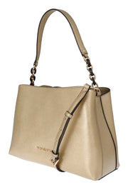 Gold SOFIA Leather Satchel Bag