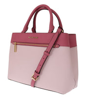Pink HAILEE Leather Tote Bag