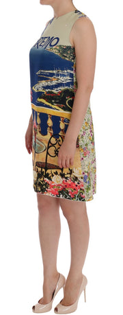 Multicolor SANREMO Shift Silk Dress