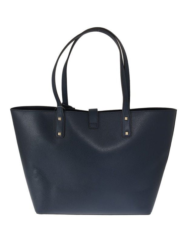 Blue KARSON Leather Tote Bag