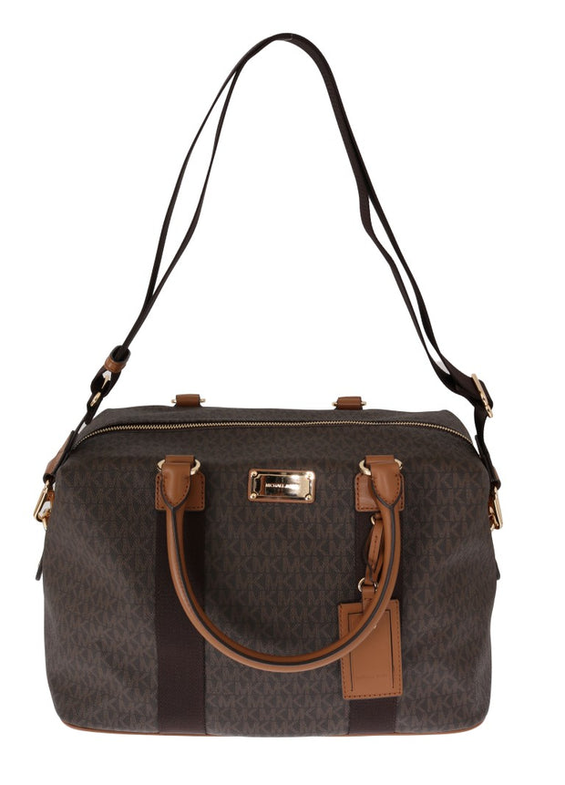 Brown TRAVEL Canvas Weekendbag