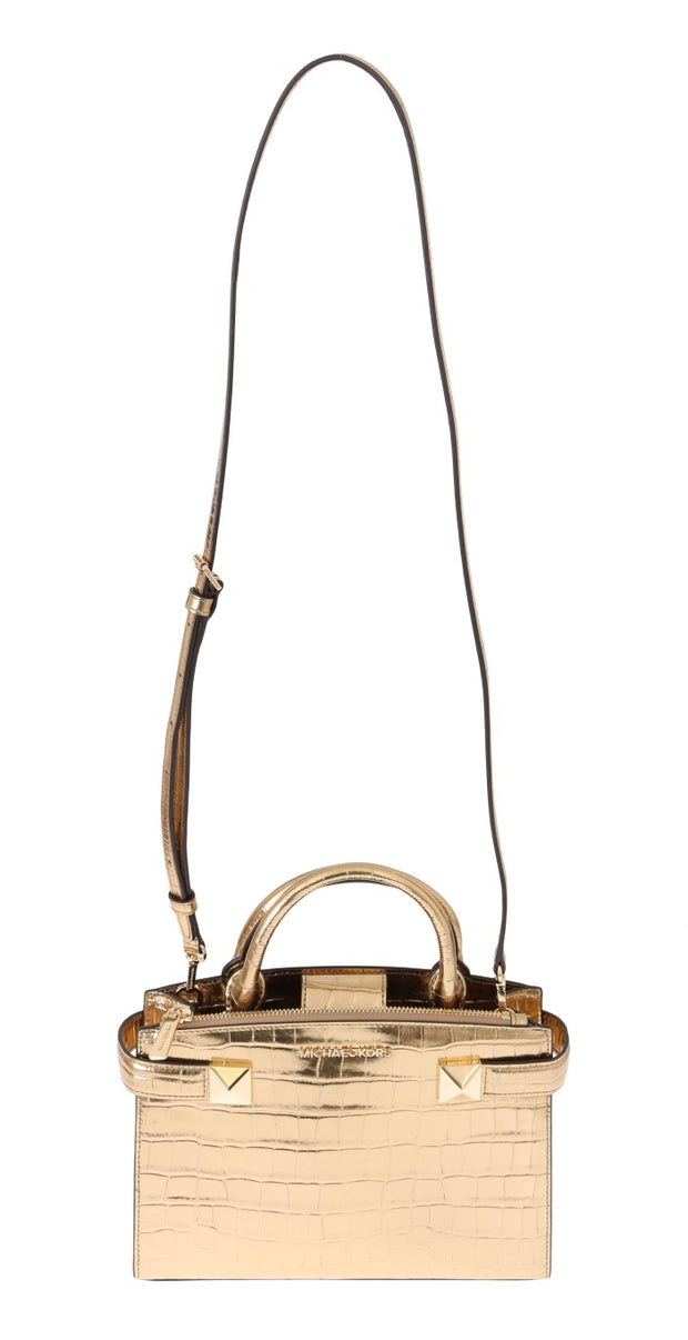 Gold KARLA Leather Satchel Bag