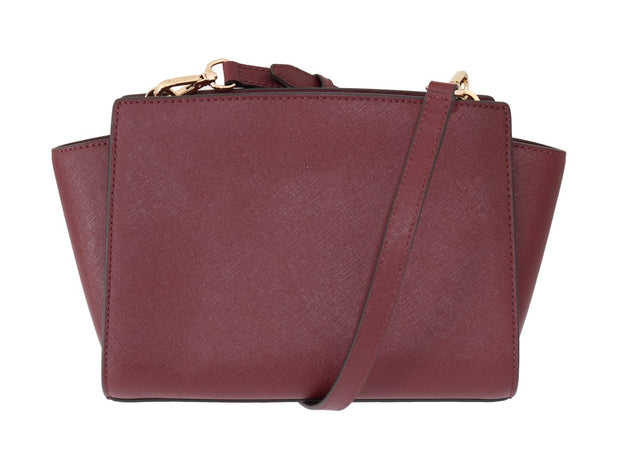 Red Pink SELMA Leather Messenger Bag