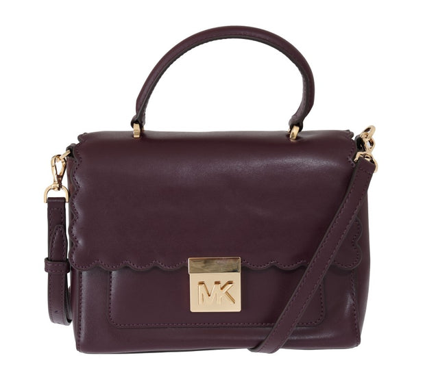 Purple MINDY Satchel Crossbody Bag