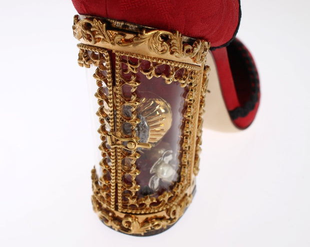 Red Brocade SICILY Shoes