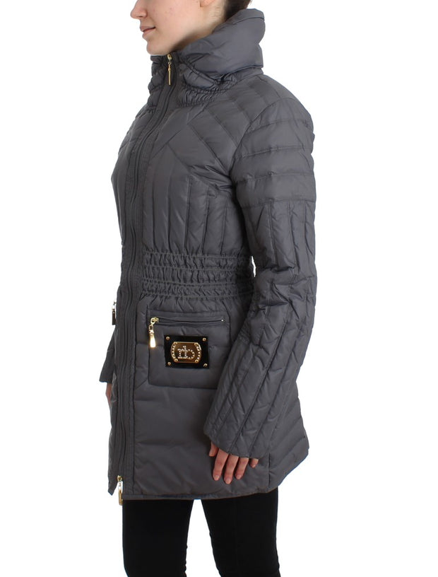 Gray Padded Down Jacket Padded Coat