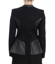Black Short Blazer Coat Biker Jacket