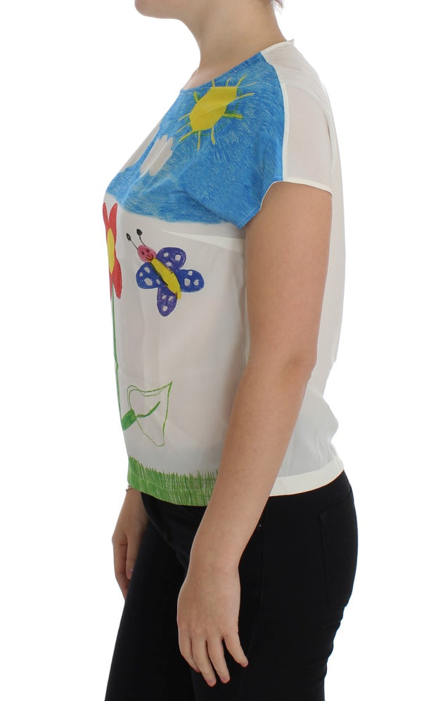 Multicolor MAMMA SARA Silk T-shirt