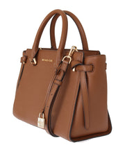 Brown CASSIE Leather Satchel Bag