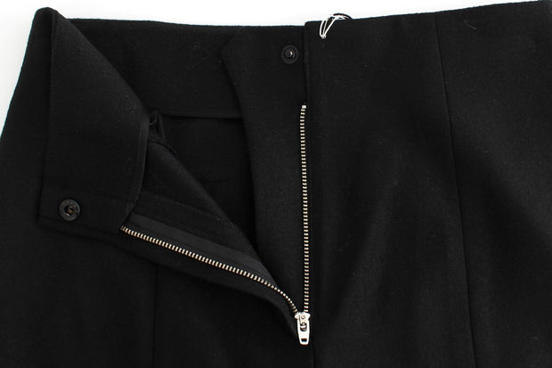 Black High Waist Straight Slim Dress Pants