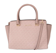 Pink SELMA Leather Satchel Bag