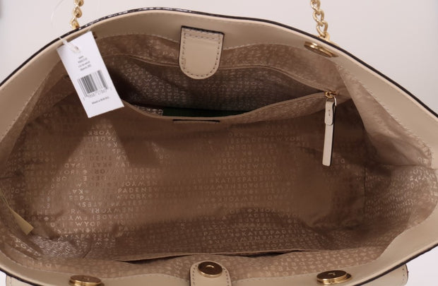 Beige HALSEY Ostrich Leather Tote Bag