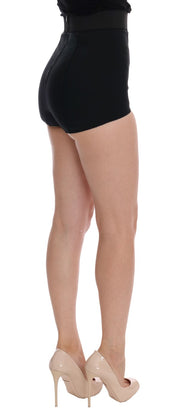 Black Lace High Waist Stretch Hot Pants