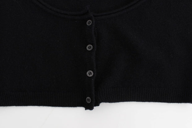 Black Cashmere Cardigan Sweater