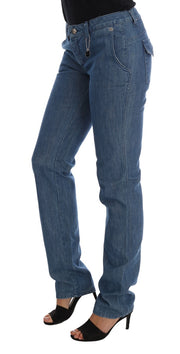 Blue Wash Cotton Slim Denim Jeans
