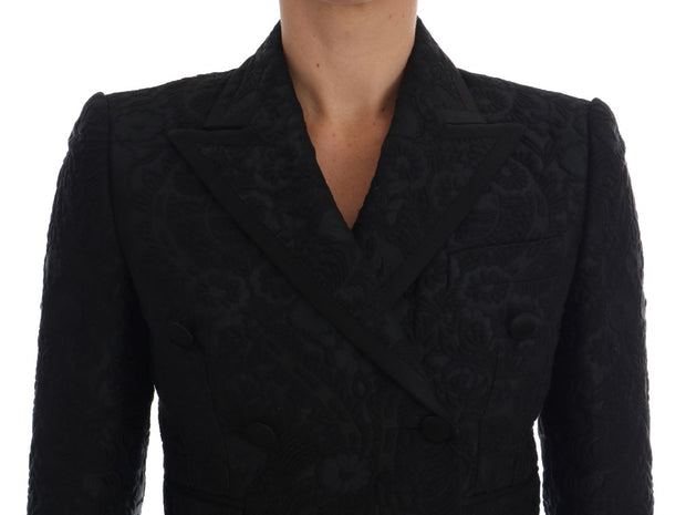 Black Brocade Blazer Jacket