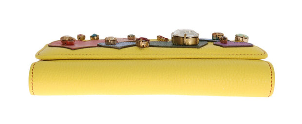Yellow Leather Crystal VON Bag