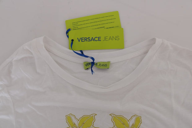 White Modal Yellow Baroque T-Shirt