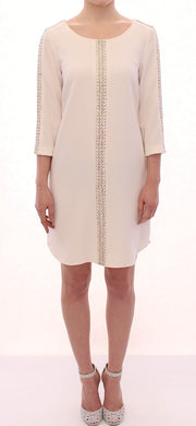 White Cream Studded Tunic Dress