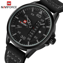 Load image into Gallery viewer, NAVIFORCE Luxury Brand Men Army Military Watches Men's Quartz Date Clock Man Leather Strap Sports Wrist Watch Relogio Masculino