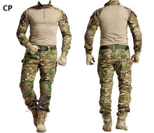 Load image into Gallery viewer, Tactical Camouflage Military Uniform Clothes Suit Men Military Combat Shirt + Cargo Pants Knee Pads