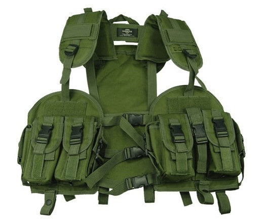 Tactical Vest Density Nylon Dedicated water vest bag Military Molle Combat Assault Clothing  Army green