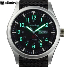 Load image into Gallery viewer, INFANTRY Mens Watches Top Brand Luxury 2018 Military Watch Men Army Sport Glow in Dark Date Day Tactical Nylon Relogio Masculino
