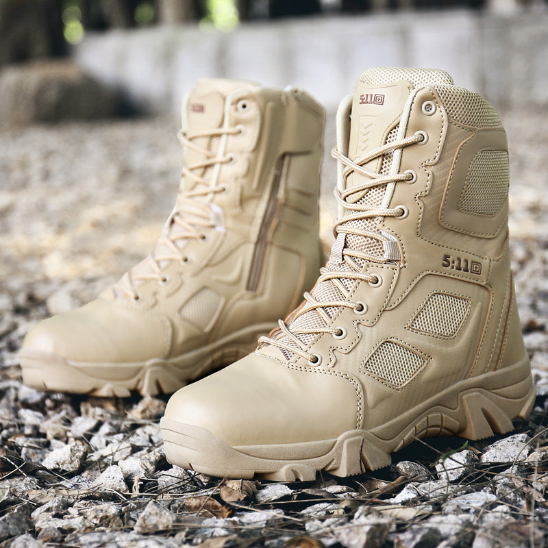TOURSH Tactical Boots Military Desert Combat Boots Outdoor Shoes Men Boots Waterproof Tactical Shoes Military Army Boot Sneakers