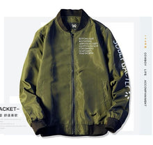 Load image into Gallery viewer, New Bomber Jacket Men Pilot with alphabet design Thin Pilot Bomber Jacket Men Wind Breaker Jacket Army green black grey White