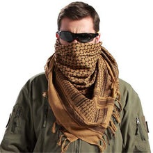 Load image into Gallery viewer, Military Uniform Tactical Scarf Outdoor Army Arab Scarf Shawl Scarve Wrap with Tassel for Men Militar Soldier Scarves 110*110CM