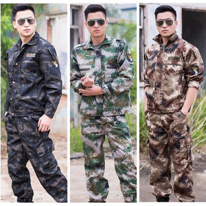 Military Uniform Army Tactical Suit Special Forces Fighting Combat Costume Camouflage Clothes Wear Resistant Men Militar Set