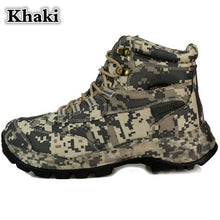 Load image into Gallery viewer, CUNGE Brand Men's Boots Military boot Tactical Big Size Army Bot Male Shoes Safety Combat Mens desert Ankle Bot Motocycle Boots