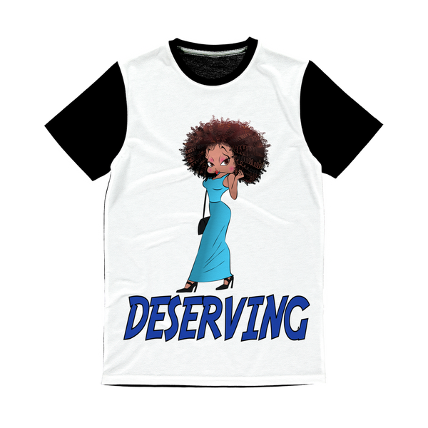 Deserving Betty Classic Sublimation Panel T-Shirt | Black Betty Boop