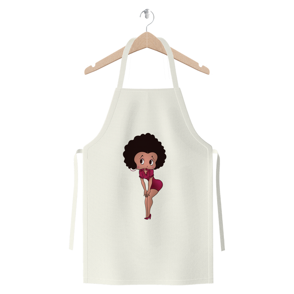 Standing Betty Light Premium Jersey Apron | Black Betty Boop
