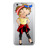 Puerto Rican Betty Back Printed Transparent Soft Phone Case | Black Betty Boop