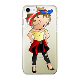 Puerto Rican Betty Back Printed Transparent Hard Phone Case | Black Betty Boop