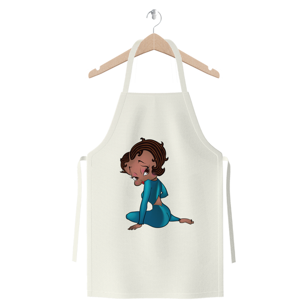 Sitting Betty Medium Premium Jersey Apron | Black Betty Boop
