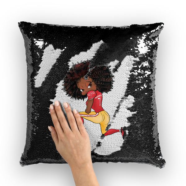 Kneeling Betty Sequin Cushion Cover | Black Betty Boop