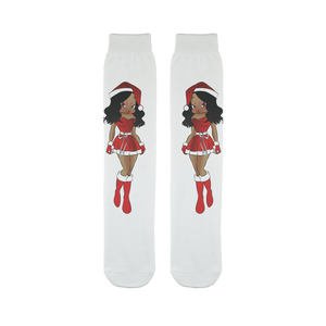 Santa Betty Sublimation Tube Sock | Black Betty Boop